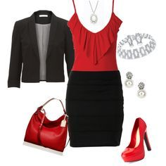 red and black outfits - Google Search
