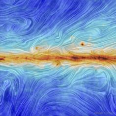 "fyeahastropics: ""Our Galaxy's Magnetic Field from Planck What does the magnetic field of our Galaxy look like? It has long been known that a modest magnetic field pervades our Milky Way Galaxy because..."