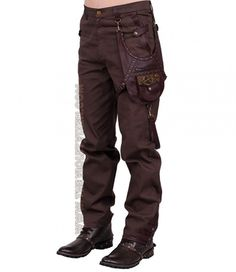 The quintessential trooper pants with amazing Steampunk influences, a sturdy carry-all for all your steam gear. Normal waist and standard fit Size 28 measurements: Full length 42 inches Inseam i Male Steampunk, Steampunk Pants, Steampunk Clothing, Steampunk Fashion, Steampunk Outfits, Vintage Goth, Renaissance Corset, Angel Outfit, Dope Fashion