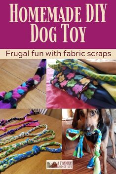 DIY Dog Toy: Made with Fabric Scraps : Let me share with you today how I make a homemade DIY dog toy using something I've got a lot of, and maybe you do, too: scrap fabric. Diy Puppy Toys, Pet Toys, Diy Dog Toys Fleece, Funny Dog Toys, Cute Dog Toys, Diy Cat Toys, Puppy Play, Fabric Scraps, Scrap Fabric