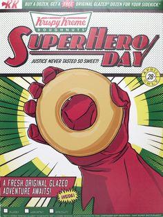 Krispy Kreme Gets Heroic with Comic-Inspired Box #KrispyKreme... #KrispyKreme: Krispy Kreme Gets Heroic with Comic-Inspired… #KrispyKreme