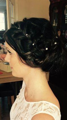 Beautiful bridal hair by Helen