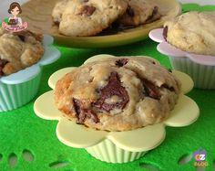 Muffin e cookies alla banana e cioccolato