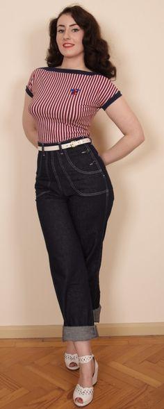 1950s Button Jeans