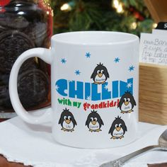 Personalized Chillin' Penguin Personalized Winter Coffee Mug - Gifts Happen Here