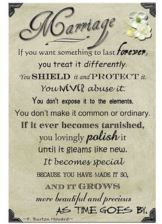 This is beautiful and true! If you want something to last forever, you treat it differently...