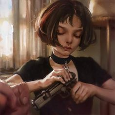 What do you think of this tribute by of iconic character from Leon The Professional, the badass Mathilda? Digital Art Girl, Digital Portrait, Matilda, Leon The Professional Mathilda, Mathilda Lando, Art Sketches, Art Drawings, Luc Besson, Iconic Characters