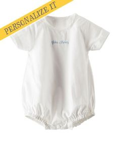 Sweet little cotton romper you can personalize with baby's name and a special message - perfect for Christening, Baptisms and Dedications - from Hallmark Baby <3