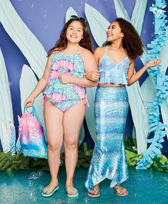 Every girl can tap into her inner mermaid with these waves of ruffles and mer-mazing style.