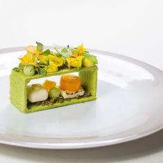 Spinach, calendula, canola By Chef Björn Olfenius