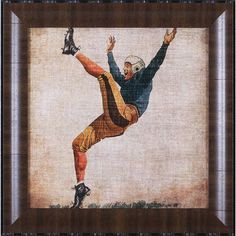 A thoughtful gift for the sports fanatic in your life, this framed print features a vintage football player.Product: Framed print...