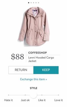 LOVE THIS COLOR & STYLE FOR A SPRING JACKET - Coffeeshop Lenni Hooded Cargo Jacket