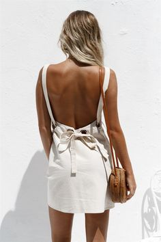 Backless Ollie Dress - Dresses by Sabo Skirt | @giftryapp Backless Dresses, dress, clothe, women's fashion, outfit inspiration, pretty clothes, shoes, bags and accessories