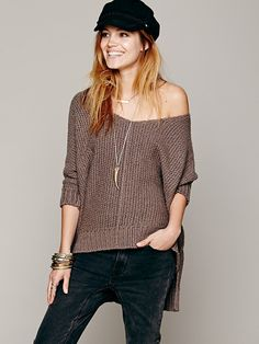 Free People Chunky Oversized Pullover, $108.00