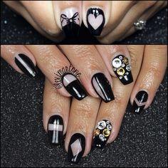 instagram @lexi Martone | negative space nails
