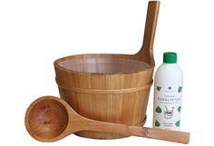 Terveystuotteet - Emendo Kiulu, kauha, Eukalyptus 500 ml -setti Saunas, Spa, Measuring Cups, Turkish Bath, Cubes, Measuring Cup, Steam Room, Measuring Spoons