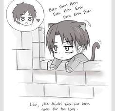 Levi thinking of Eren