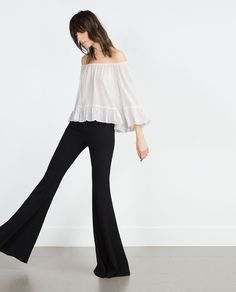 Pin for Later: 23 Zara Finds That Will Make You Fall Hard For the Boho Trend Boat neck blouse ($50)