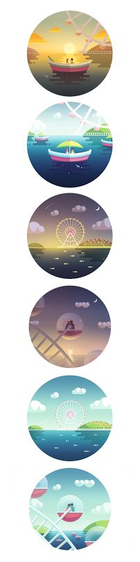 Displaying amusement park on Behance.png