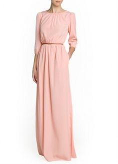 Mango Long Sleeve Maxi Dress