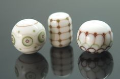 Meagan Lily Lampwork  Spots and lines July 2014
