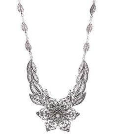 Sterling Silver Filigree Floral Statement Necklace by Ottoman Silver Collection #zulily #zulilyfinds