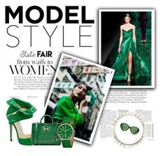 """""""Fashion Trendy Outfit Nature Green Style Look"""" by fashion-trendy-outfit ❤ liked on Polyvore featuring Jimmy Choo, Diane Von Furstenberg, Simplify and The Row"""