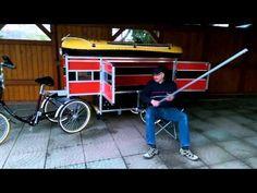 skowimog1 Fahrradanhänger Bike Wohnwagen - Gespann - YouTube