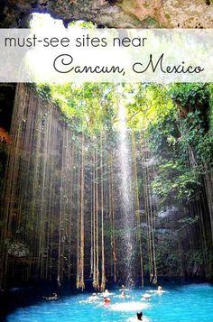 must-see sites near cancun / playa del carmen / tulum / riviera maya #travel #mexico #Vacation #Mexico #Ferias #vacaciones