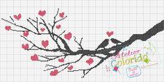 Atelier Colorido PX: Pássaros apaixonados no ramo!