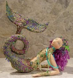 Pattern for mermaid doll.....supplies for mixed media