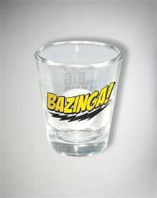 Big Bang Theory Bazinga Shot Glass Shot Glasses Fun Games Big