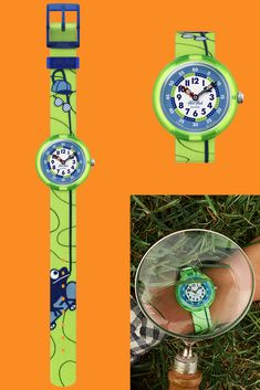 Neon Green, Green Colors, Swiss Made Watches, Frogs, Skating, Rolex Watches, Swatch, Bracelet Watch, Colour