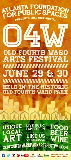 Old Fourth Ward Park Arts Festival #oldfourthward #atlanta #thingstodo #arts #festival #o4w