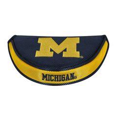 Team Effort Michigan Wolverines Mallet Putter Cover, Multicolor