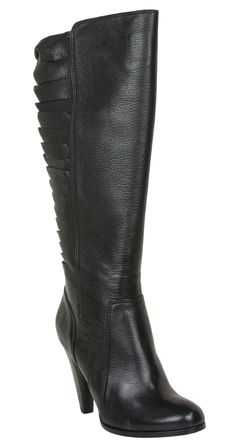The black Frye Mikaela Stretch Twisted Boot is business in the front, party in the back!
