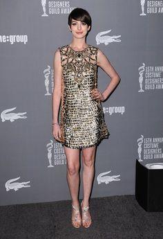 Anne Hathaway - Premios del sindicato de diseñadores de vestuario