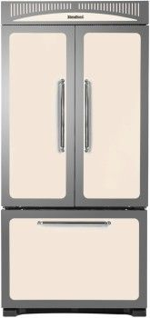 Counter-Depth French Door Refrigerator with 4 Glass Shelves, 2 Crisper Drawers, Gallon Door Storage, Ice Maker and Internal Water Dispenser 4300 Double Door Refrigerator, Counter Depth Refrigerator, Heartland Appliances, Retro Fridge, Rustic Country Kitchens, Basic Kitchen, Door Storage, Outdoor Kitchen Design, Glass Shelves