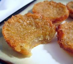 Butter Tarts - Most people I know have probably never heard of them but they are uhhhhmazing From: Baking Bites, please visit Tart Recipes, Sweet Recipes, Baking Recipes, Cookie Recipes, Dessert Recipes, Just Desserts, Delicious Desserts, Yummy Food, Sweet Desserts