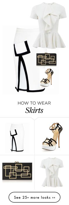"""Skirt geometry"" by chateaubeau on Polyvore"