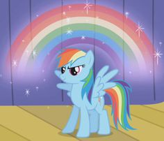 When Rainbow Dash made this rainbow and did the awesome stuff to show off to Trixie it was way better than what Trixie did. Trixie just made RD spin in a tornado and she used magic to do it. I mean come on RD could do that without magic!!!!'