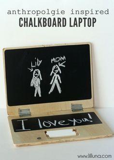 Anthropologie Inspired Chalkboard Laptop