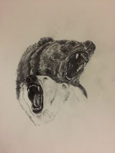 Yin and yang bear tattoo idea I came up with to avoid doing a lab report....