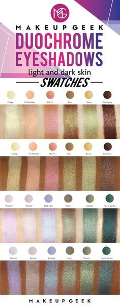 Makeup Geek Duochrome Eyeshadow swatches on light and dark skin. /search/?q=%23doyouduo&rs=hashtag