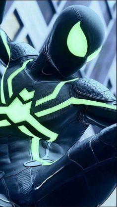 Black Spiderman, Spiderman Spider, Amazing Spiderman, Marvel Art, Marvel Heroes, Marvel Avengers, Marvel Comics, Wallpaper Animé, Marvel Wallpaper