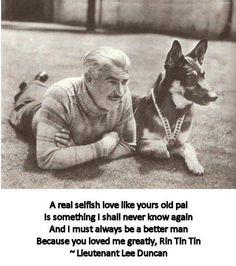 The German Shepherd..Rin Tin Tin