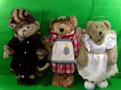 Lot Of Three Standing Teddy Bears Christmas Bear Fancy Bear Angel Gift  #Unbranded #Christmas