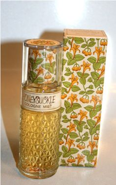 Vintage Avon Honeysuckle Cologne.  Everyone knew an Avon lady in the 60s & 70s. My Aunt, a kindergarten teacher, received so many Avon gifts.  She finally fibbed and told her kids that she was allergic to it.
