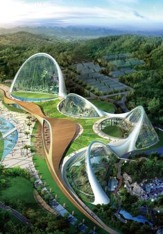 Ecorium, South Korea - Created at the initiative of South Korea National Ecological Institute, the complex is spread over 33,000 hectares. This would be a unique place with wedge-shaped greenhouses, where ecological research would be conducted. The central buildings would be constructed in such a way that the internal conditions will be able to change under the influence of external environment, which can help save energy. This is a good characteristic for a modern building, considering how…