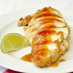 Apricot Lime Glazed Chicken Breasts - a quick and easy way to add an unexpected punch of sweet and sour to those boring weekday chicken breasts.